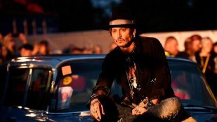 Le foto di Johnny Depp al Festival di Glastonbury 2017