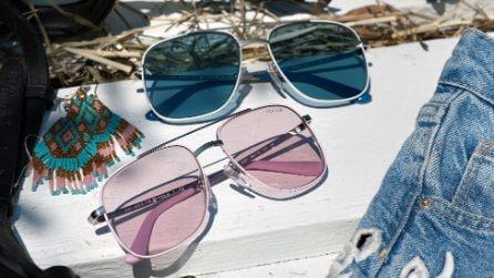 Occhiali da sole con le lenti colorate: il must per l'estate 2017