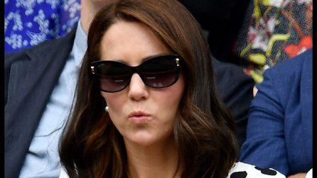 Le smorfie di Kate Middleton a Wimbledon