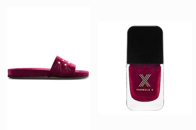 Sandalo: Aquazzura - Smalto: Fromula X Les Liquid Crystals (Spectrum)