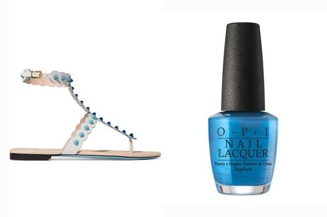 Sandalo: Fendi - Smalto: Opi Nail Polish (Super Trop-I-Cal-I-Fiji-Istic)