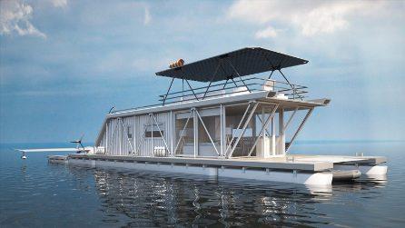 Casa galleggiante, molo per barche e garage per idrovolanti: questo yacht vale per 3
