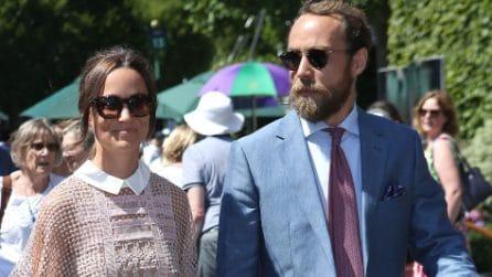 Pippa Middleton arriva a Wimbledon con l'abito trasparente