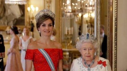 Letizia di Spagna incontra Elisabetta II
