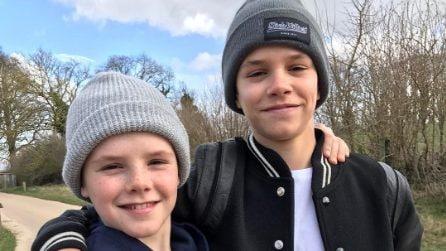Romeo e Cruz, i piccoli di casa Beckham