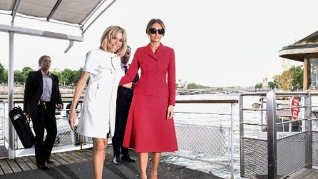 Stile da First Lady: i look di Melania Trump e Brigitte Macron a Parigi