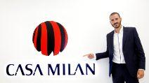 Milan, Bonucci saluta i tifosi rossoneri