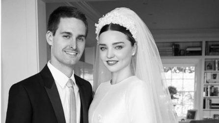 L'abito da sposa di Miranda Kerr