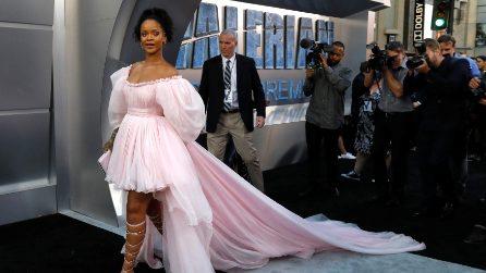 Rihanna in rosa alla prima del film