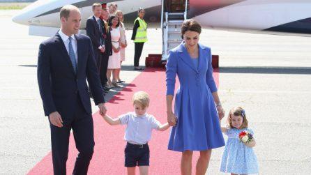 Il look coordinato di Kate Middelton e della principessa Charlotte