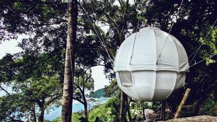 Ecco la geniale tenda per dormire sugli alberi