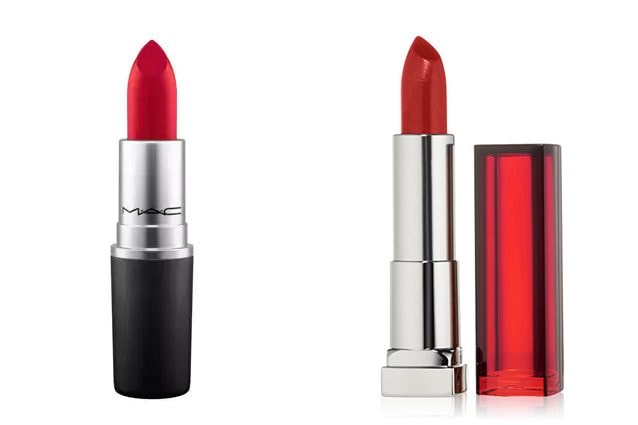 Mac, Lipstick in Ruby Woo (19,50€) - Alternativa low cost: Maybelline, Color Sensational in Very Cherry (6,90€)