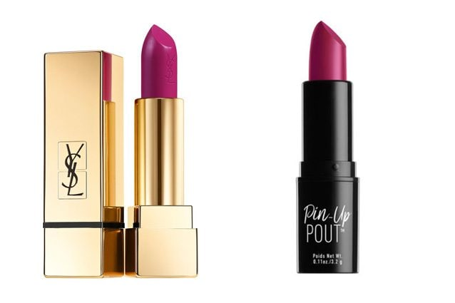 Yves Saint Laurent, Rouge Pur Couture in Fuchsia Pink (31,90€) - Alternativa low cost: Nyx, Pin Up Pout Lipstick in Cocktail Hour (8,90€)