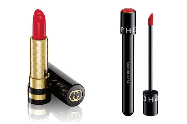 Gucci, Moisture Rich Lipstick in Iconic Red (36,00€) - Alternativa low cost: Sephora, Rouge Infusion in Red Essence (11,90€)