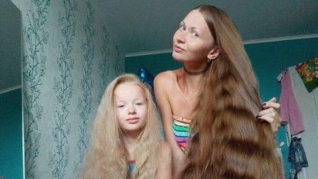 Daria, la Rapunzel russa con i capelli di 180 cm