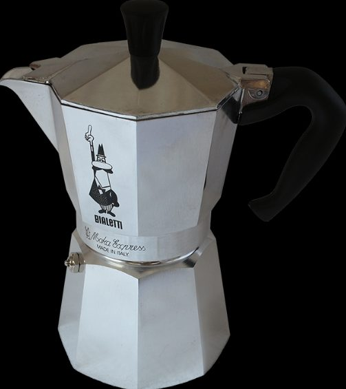 Moka pot - The famous moka pot which we use to make morning coffee has an octagonal shape (in cross section) so as to increase the grip when the surface gets wet.