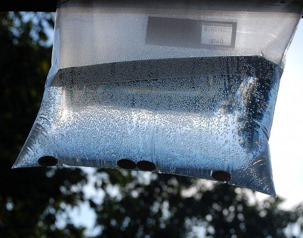 Hang the plastic bag