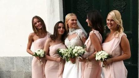 Vita Sidorkina, il vestito da sposa dell'angelo di Victoria Secret