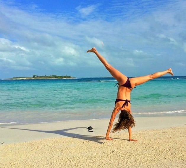 Gisele Bunchen che si allena in spiaggia