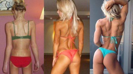 Hattie Boydle, sconfigge l'anoressia e diventa la regina del fitness