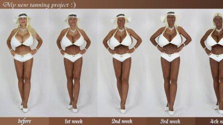 La trasformazione della Barbie umana