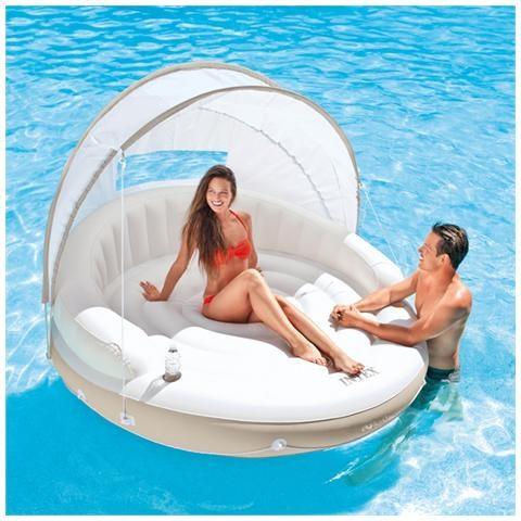 Isola galleggiante con parasole, INTEX