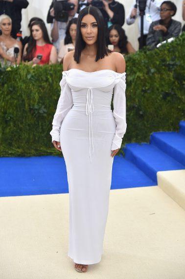 Kim Kardashian in Vivienne Westwood al Met Gala 2017