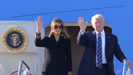 Gli occhiali da sole di Melania Trump