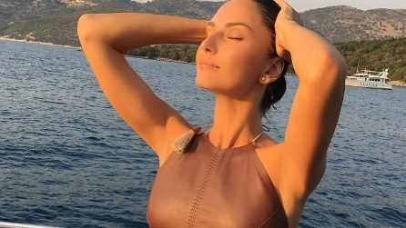 Anna Safroncik in splendida forma alla fine dell'estate