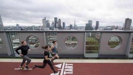 Londra, correre sulla pista da running più alta della city