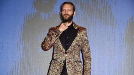 Le giacche originali di Alessandro Borghi a Venezia