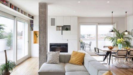 Pilastro in mezzo alla stanza? 7 soluzioni per sfruttarlo in casa