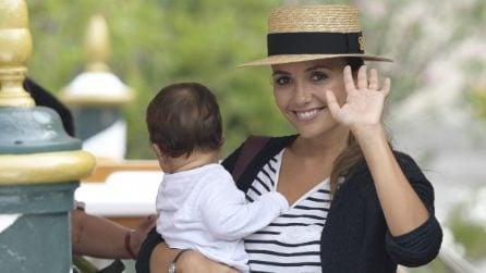 Le foto di Serena Rossi e suo figlio Diego a Venezia 74