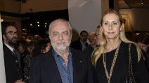 Le foto di Aurelio De Laurentiis e Jacqueline Baudit
