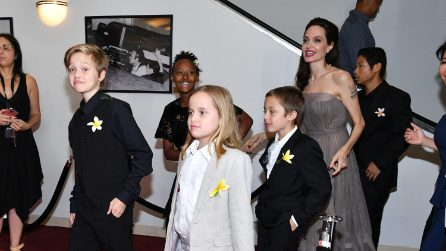 Angelina Jolie con i figli sul red carpet