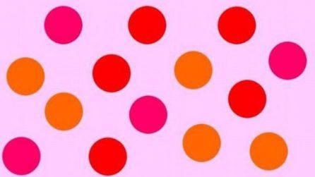 Nel gruppo ci sono dei pallini di colore rosso: riuscite a individuarli tutti?