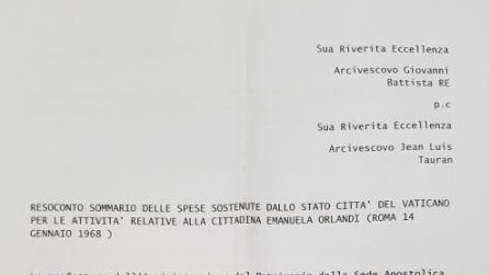 Emanuela Orlandi, la 'nota spese' del Vaticano sulla sua scomparsa