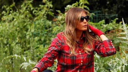 Melania Trump in versione contadina