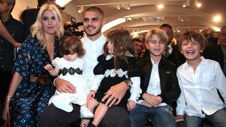 La famiglia Icardi veste in coordinato