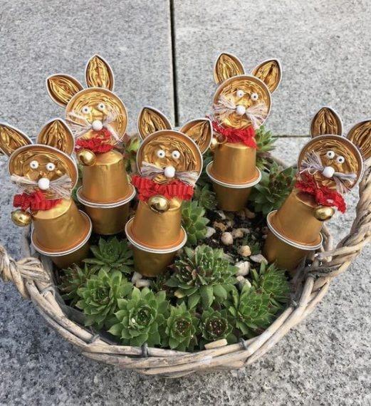 Un cestino pieno di coniglietti, per la gioia dei bimbi. Fonte: https://it.pinterest.com/pin/739927413749055912/