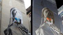 Quartieri Spagnoli, il murales di Francisco Bosoletti ispirato alla Pudicizia di Corradini