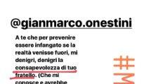 Soleil Sorgè replica a Gianmarco Onestini e Federica Benincà