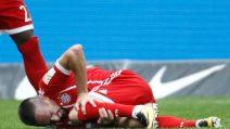 Ribery, infortunio al ginocchio contro l'Hertha Berlino