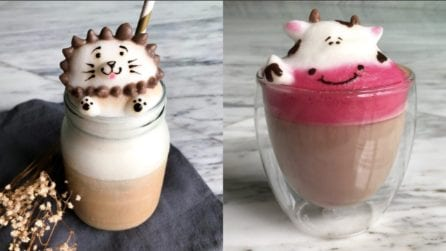 Le 11 migliori decorazioni sui cappuccini: opere d'arte con la schiuma di latte