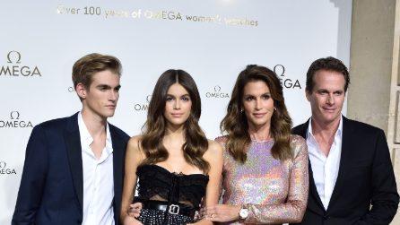 La famiglia Crawford-Gerber al completo