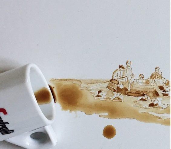 Un dipinto impressionista al gusto di caffè.