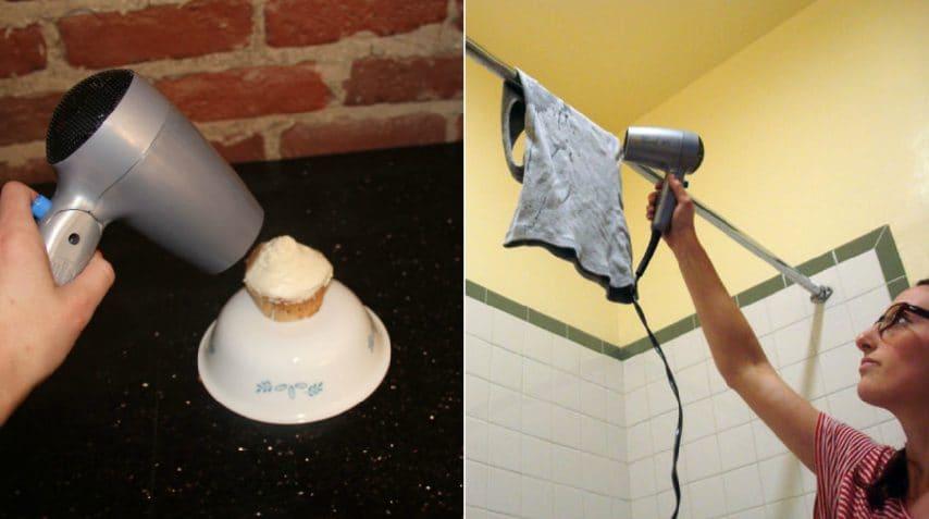 Ecco come usare un asciugacapelli in modo insolito e ingegnoso