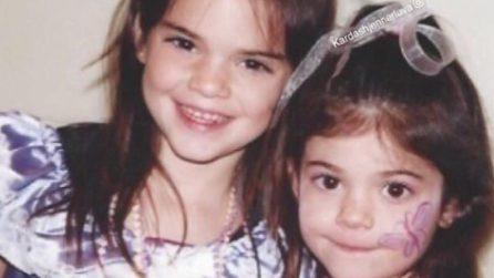 Kendall e Kylie Jenner da bambine