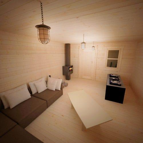 Dall'esterno si mostra come una semplice abitazione fuoriterra ma tutta la maggior parte della casa si sviluppa nel sottosuolo con una serie di stanze a prova di Apocalisse.