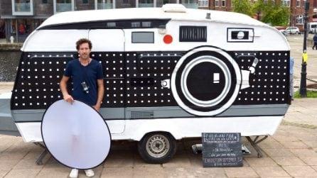 Da vecchio caravan a macchina fotografica mobile: la trasformazione a meno di 200 euro
